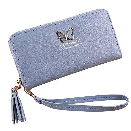 - Women Simple Retro Zipper Long Wallet Coin Purse Card Holders Handbag BU