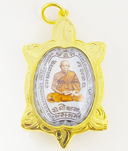 Thai Magic Turtle Amulets Thai Buddha Statue Thai Amulet Thai Amulet Buddha Phra LP Lew Magic Turtle Wat Safe CharmWealth Thai Buddha Amulet Protect Life by Thailand Famous Amulets