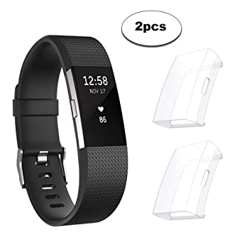 c2bcd7317 Sun studio Protector Fitbit Charge 2, TPU Accesorio Funda Protector de  Pantalla Shell para Fitbit Charge 2 Unisex Fitness Smartwatch (Transparente  + ...