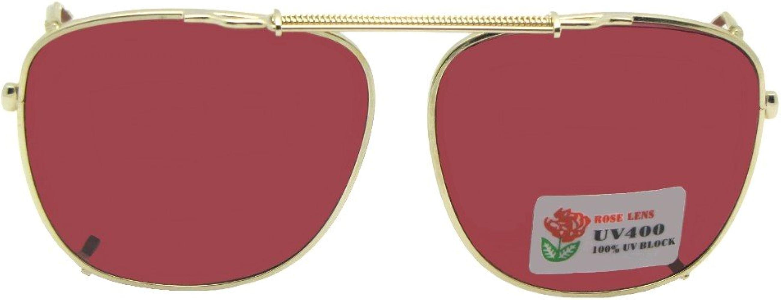 Amazon.com: Cuadrado no lentes de polarizadas Rose Clip en ...