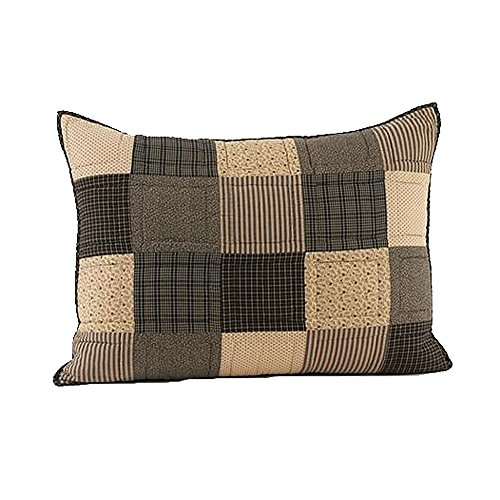 VHC Brands Kettle Grove Standard Patchwork Quilted Cotton Sham in Tan