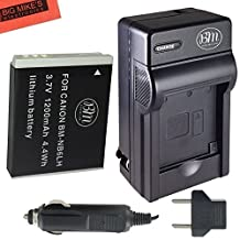 BM Premium NB6L, NB-6L, NB-6LH Battery and Charger Kit for Canon PowerShot S120, SX170 IS, SX260 HS, SX280 HS, SX500 IS, SX510 HS, SX520 HS, SX530 HS, SX540 HS, SX600 HS, SX610 HS, SX700 HS, SX710 HS, ELPH 500 HS, D10, D20, D30 Digital Camera