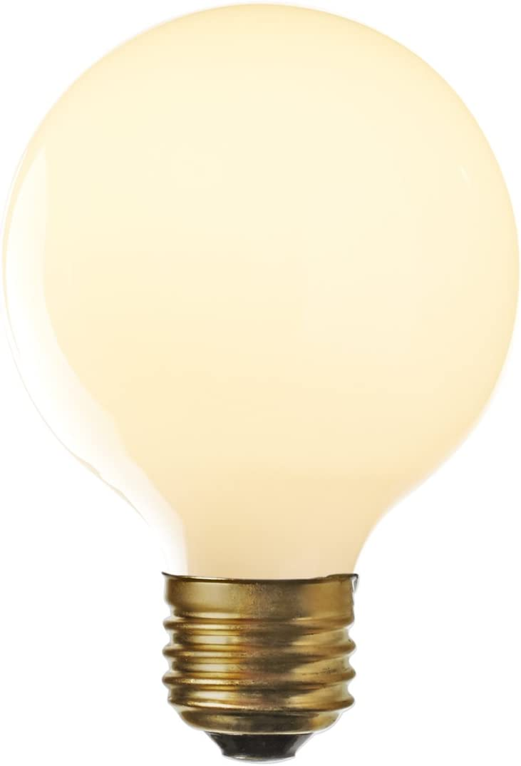 G25 LED Frosted Globe Bulb - 6 Watt, Fully Dimmable, 3000K, Medium E26 Base, 600 Lumens (60W Equivalent), Type G Round Light Bulbs, Damp Located, Carlton Collection