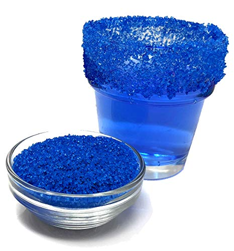 Snowy River Royal Blue Cocktail Sugar - Kosher Certified All Natural Colored Royal Blue Cocktail Rimmer (Medium Crystal)