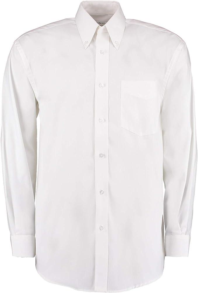 KUSTOM KIT - Camisa Formal - para Hombre Blanco Blanco XXX-Large: Amazon.es: Ropa y accesorios