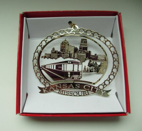Kansas City Missouri Brass Christmas ORNAMENT Souvenir Gift -