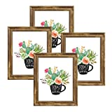NUOLAN 8x10 Picture Frame Farmhouse Rustic Brown