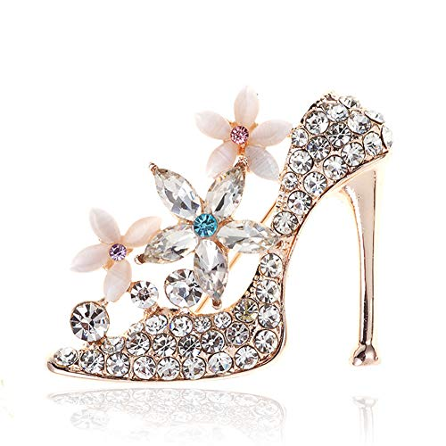 - Chili Jewelry Women's High-Heeled Shoes Brooch with Flower Brooches Pins Decoration Jewelry Clothes Accessories for Wedding Party