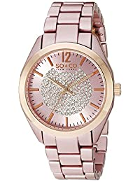SO & CO New York  Women's 5096A.4 SoHo Analog Display Quartz Pink Watch