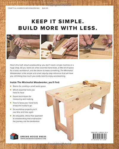The Minimalist Woodworker Essential Tools And Smart Shop Ideas For