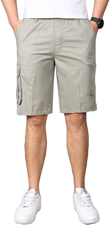 Ketamyy Hombres Verano Casual Pantalones Cortos Algodón ...