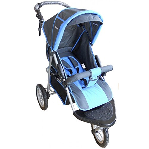 Amoroso Single Jogging Stroller, Blue/Red, 12'