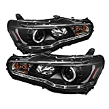 Spyder Auto PRO-YD-ML08-DRL-BK Mitsubishi Lancer/EVO-10 Black DRL LED Projector Headlight