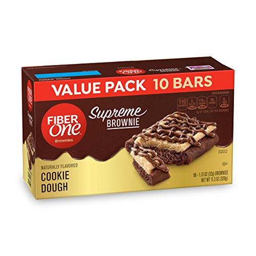 - Fiber One  Supreme Brownie Cookie Dough, 10 Count (Pack of 4)