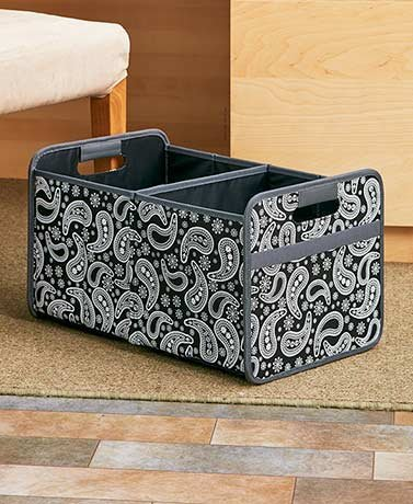Collapsible File Organizers (Paisley Double) by Unknown
