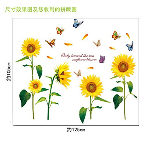 Joylive Removable Sunflower Room Vinyl Decal Art Wall Home Decor Kids  Nursery Stickers Part 72