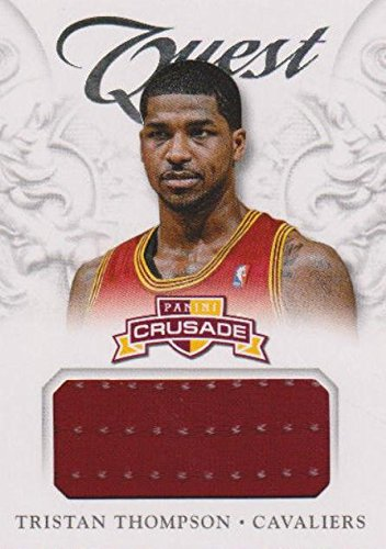 Tristan Thompson player worn jersey patch basketball card (Cleveland Cavaliers) 2013 Panini Crusade Quest #45