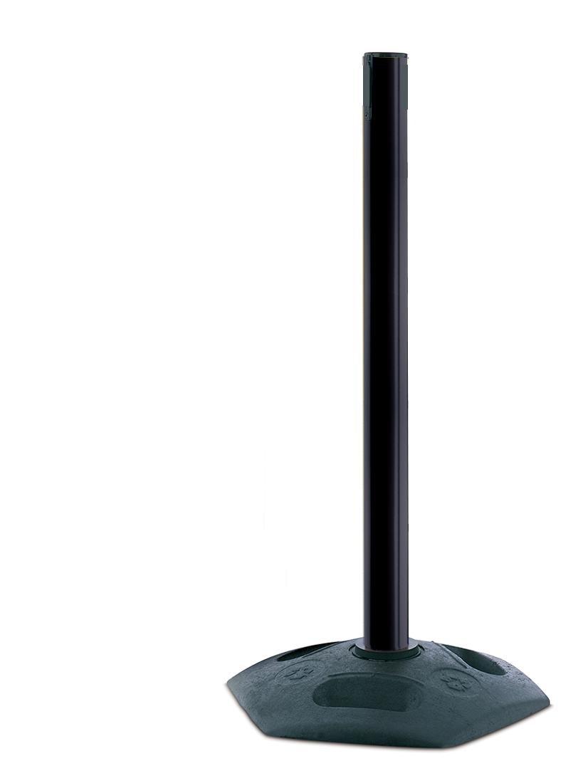 Receiver Post Tensabarrier 886-33-RCV-NO-XXX-X Heavy Duty Outdoor Post with Black Tube No Webbing Tensator