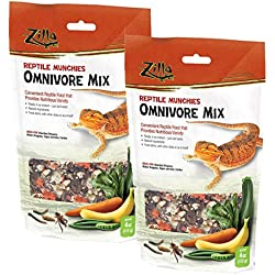 Zilla Reptile Food Munchies Omnivore Mix, 8-Ounce