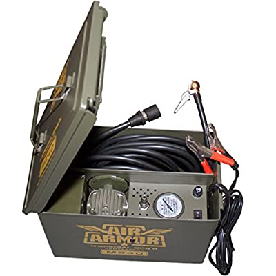Air Armor M240 Portable 12-Volt Tactical Air Compressor Kit Tire Inflator by Air Armor