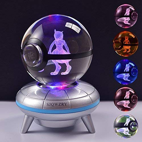 3D Crystal Ball LED Night Light Base Changes Color Toy Night Light Child Christmas Present