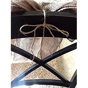 12' Wide Burlap Sunflower Lace Tulle Pew Chair Bow Rustic Wedding Reception Venue Decor Wreath Ornament 4