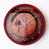 Znzbzt Three-dimensional fashion creative wall clock meditation yoga living room wall-mounted table clock mute wall clock, the red box