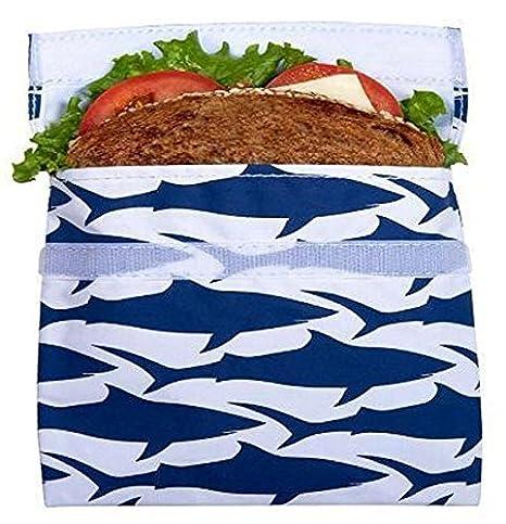 LunchSkins - Bolsas para bocadillos, diseño de tiburón ...