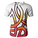 Flame Over The Calf Soccer Men Lucky Short Sleeve Office T-Shirt T