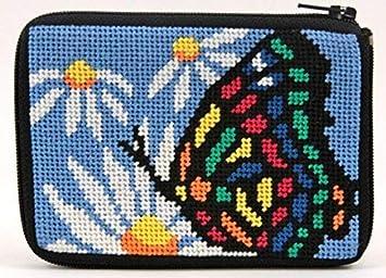 Monedero, diseño de mariposa y Daisy - Kit de punto de cruz ...