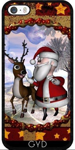 Coque pour Iphone SE - Drôle Père Noël by nicky2342