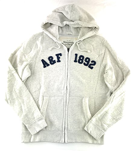 Abercrombie & Fitch Mens Hoodie Light Heather Cream 0459 (Abercrombie Clothing)