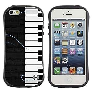 Suave TPU GEL Carcasa Funda Silicona Blando Estuche Caso de protección (para) Apple Iphone 5 / 5S / CECELL Phone case / / Piano Pattern /