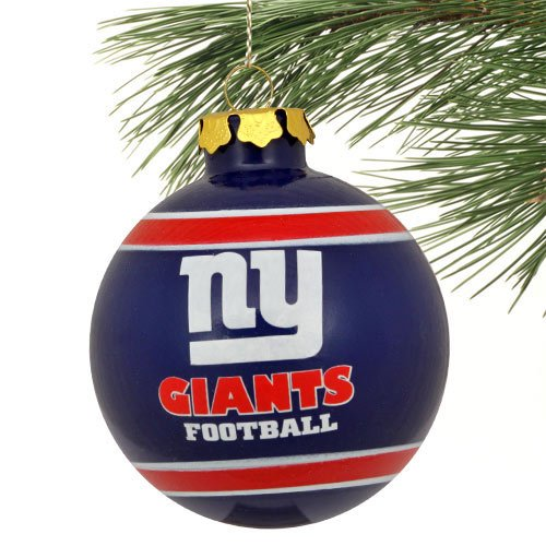 NFL New York Giants 2012 Glass Ball Ornament, Blue