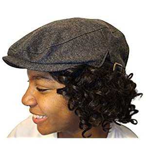 Always Eleven Satin-Lined Newsboy Hat with Adjustable Side Buckles, Classic Fashionable Style