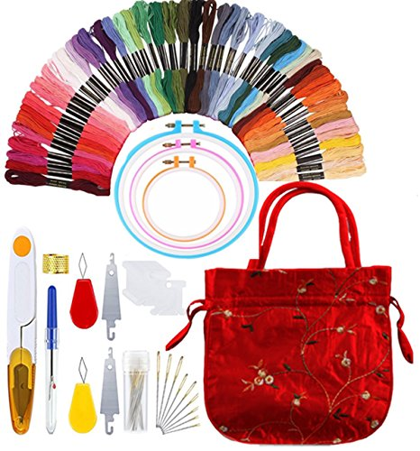 Full Range of Embroidery Starter Kit Including 3 Pieces Embr