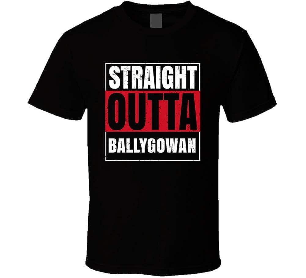 Straight Outta Ballygowan England City Grunge Parody 7311 Shirts