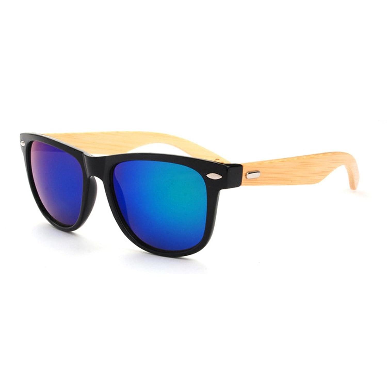 e84fd26489 forepin Gafas UV400 Wayfarer Mujeres hombres de sol - Gafas con patillas de  bambú en diferentes