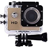 WinnerEco 2.0inch120 Degree Wide-angle Full HD 30M Waterproof Sports Action Camera DV DVR (Gold)