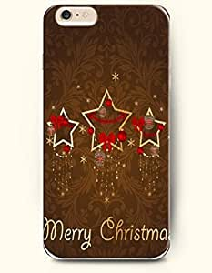OOFIT New Apple iPhone 6 ( 4.7 Inches) Hard Case Cover - Stars and Beautiful Christmas Lights - Merrry Christmas