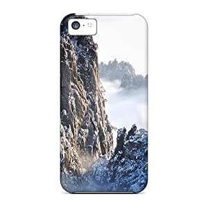 LJF phone case TnhacKa1360hfWDg Case Cover, Fashionable iphone 6 plus 5.5 inch Case - Snowy Peaks