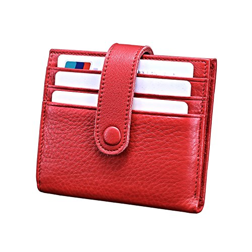 Reeple Women's Rfid Blocking Small Compact Bifold Leather Pocket Wallet With Id Window