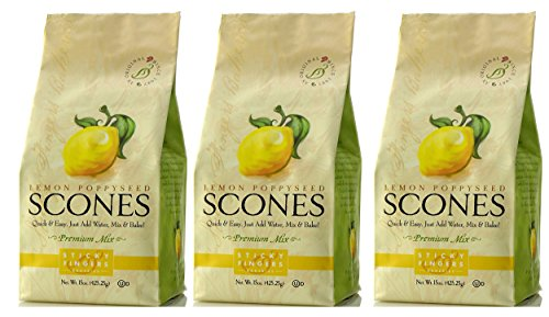 Sticky Fingers Scones Lemon Poppyseed, 15-Ounce (Pack of ()