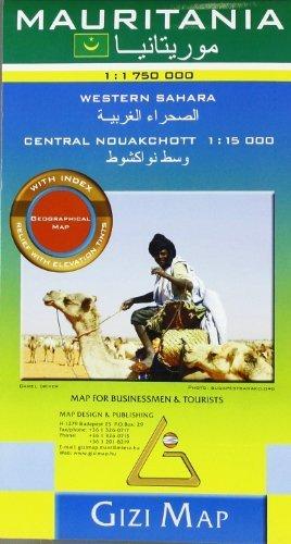 Mauritania 1: 1,750,000 Geographical Travel Map, Gizi