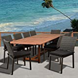 Amazonia Liberty 11 Piece Patio Extendable Dining Set with Cushions
