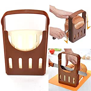 LOOYUAN 1PCS Compact And Foldable Kitchen Baking Bread/Loaf/Toast Slicer/Cutter Cutting-Cuts Even Slices