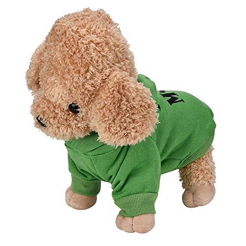 Xinantime Small Pet Dog Clothes Hooded Costume Puppy Cotton Blend T-Shirt Letter Print ()