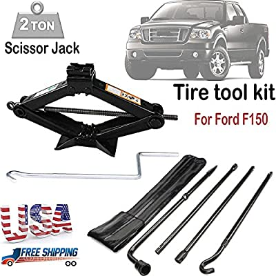 For (2004-2014 ) Ford F150 Spare Tire Lug Wrench Tool Kit Replacement & Scissor Jack 2 Tonne Heavy Duty