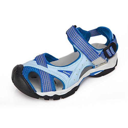 Clorts Women's Lightweight Athletic Sandal Outdoor Seaside Water Sneaker Blue SD-202A US8.5