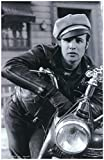 #5: The Wild One Marlon Brando on Motorcycle as Johnny Strabler Leading Black Rebels 11 x 17 Litho